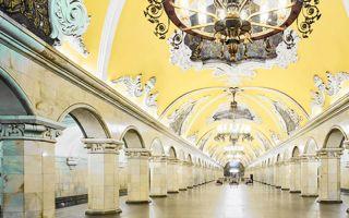 通勤像是逛画廊!莫斯科空空如也的辉煌地铁