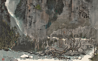 香港苏富比中国书画拍卖:吴冠中《张家界写生》