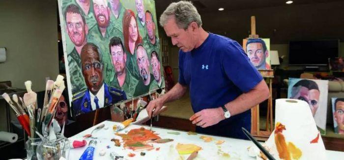 比起当总统 小布什也许是一个更好的画家