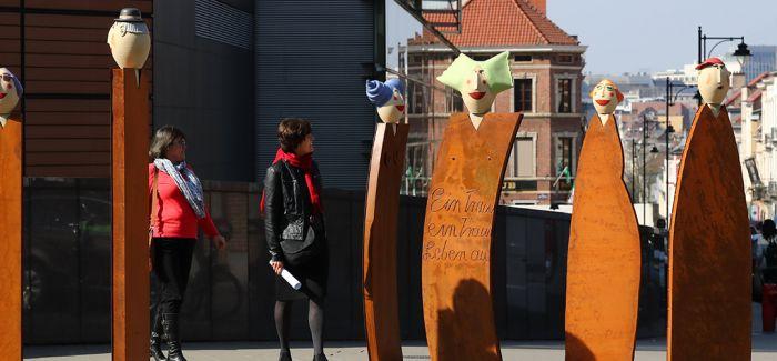 纪念《罗马条约》签署60年雕塑群亮相布鲁塞尔