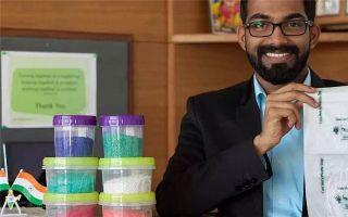 24岁小伙发明可以吃的塑料袋 登上《福布斯》