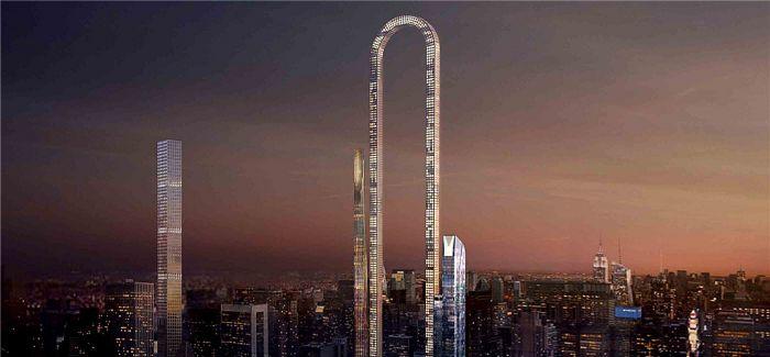 """超长大楼:这栋被""""掰弯""""的摩天大楼更在乎长度"""