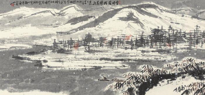 保利香港春拍:崔如琢积墨巨作《秋烟漠漠雨蒙蒙》