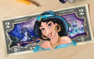有钱就是任性 在美钞上作画