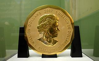 德国博物馆一重达100公斤金币被盗 面值100万美元
