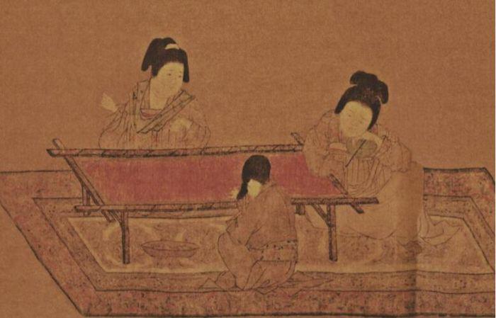 唐朝仕女图手绘