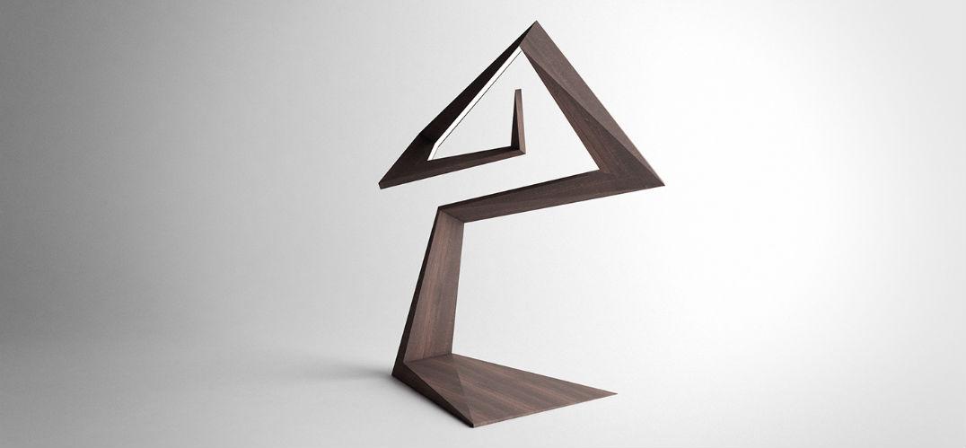 每个角度都不同 雕塑般的错视台灯