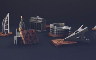 俄罗斯设计师用金属打造世界著名建筑小摆件Jsouv