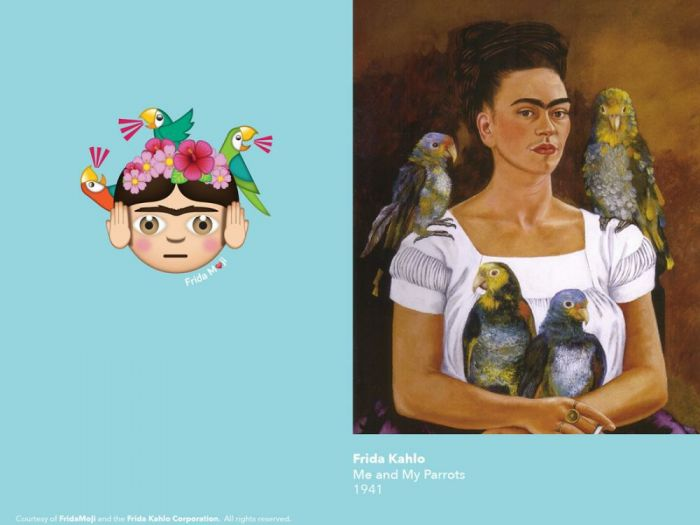 你的表情包还缺这一款:传奇艺术家弗里达Emoji面世
