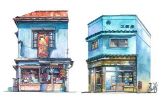 艺术家笔下的 正在东京慢慢消失的日本特色店面