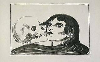 与骷髅共舞的少女 告诉你死亡常与你相伴