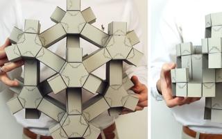 无穷无尽的变形!3D 纸拼图的「超材料」是什么?
