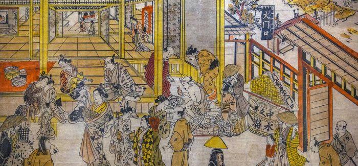和服美少年娇羞持扇 从版画看古代日本的性别流动