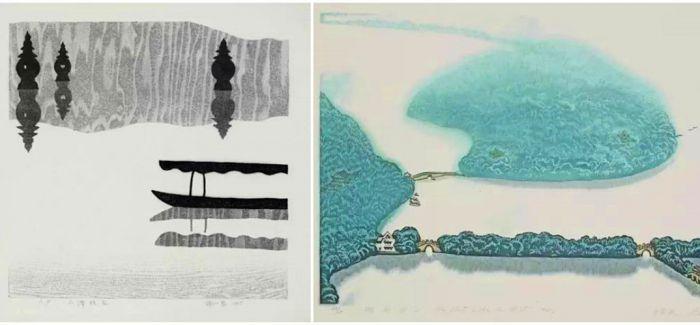 西湖主题水印版画展亮相日本
