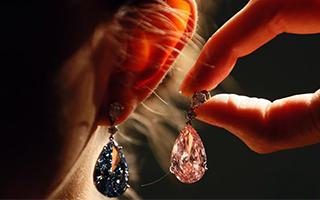 天价钻石耳环即将拍卖 估价数千万美元
