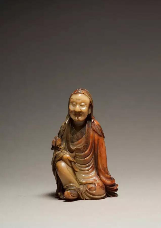 清 寿山石雕罗汉像