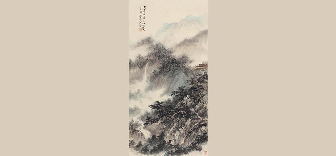 中国嘉德春拍:李可染《漓江》 吴湖帆《危石青松图》