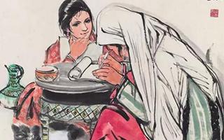 中国嘉德春拍:黄胄的两张《学文化》