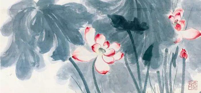 中国嘉德春拍:张大千《红荷》