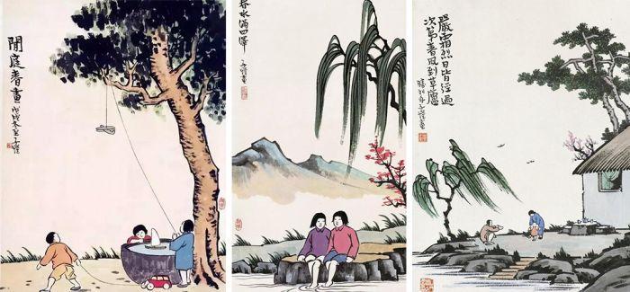 丰子恺漫画里的春天
