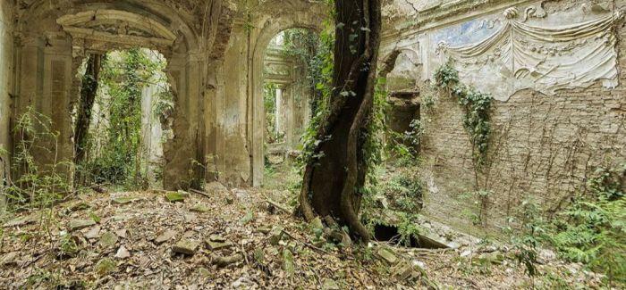 欧洲教堂废弃数十年 辉煌不再 杂草丛生