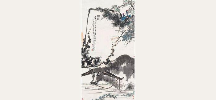 中国嘉德春拍:潘天寿殿堂级巨制《耕罢》