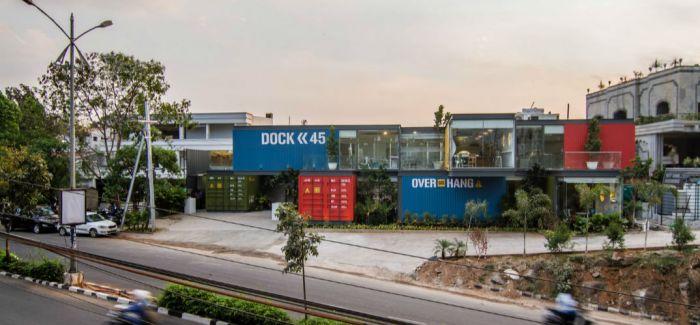 印度海德拉巴 一座创意集装箱餐厅
