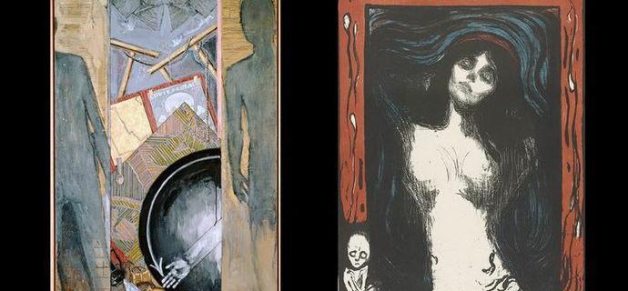 美国画家用抽象画向蒙克隔空致敬