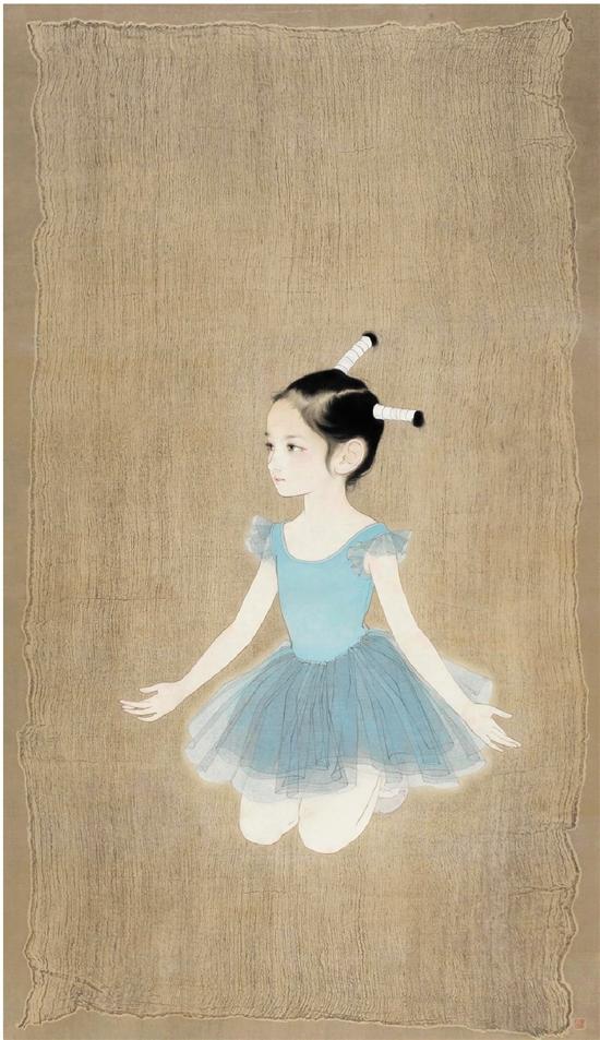 罗寒蕾 蓝精灵 168×97cm 2012年