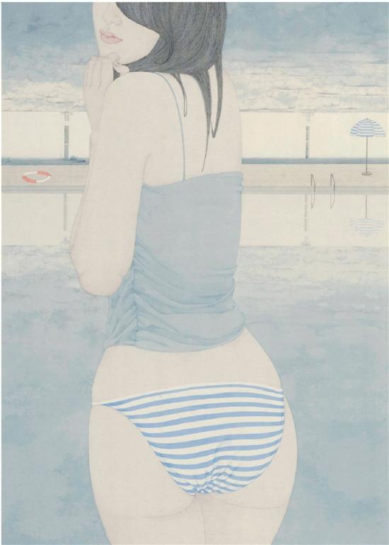 张见 蓝色假期之一 70×50cm 2013年