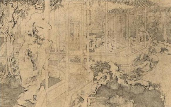 《花歩小筑》 王君 60x80cm 2015年 纸本水墨