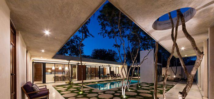 与自然和谐相处的墨西哥住宅