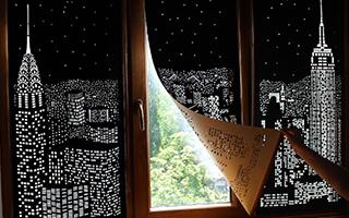 乌克兰城市剪影窗帘 镌刻白昼限定夜景