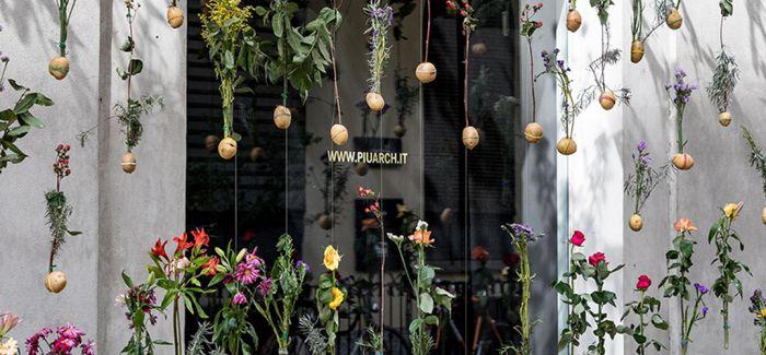 米兰建筑设计室的春季外墙 Flowerprint