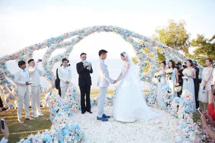 吴奇隆与刘诗诗的海岛婚礼