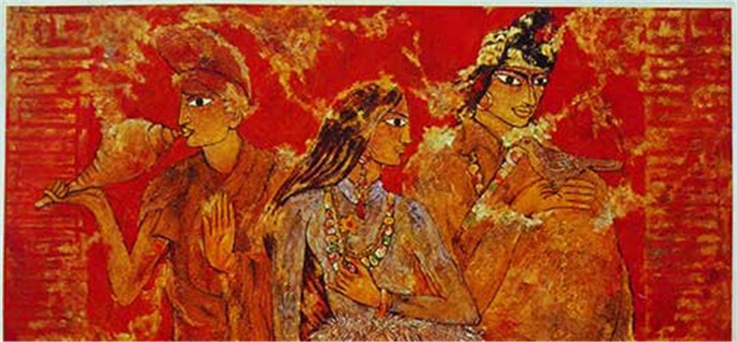 徐里油画作品《四臂观音》被洛克菲勒家族收藏