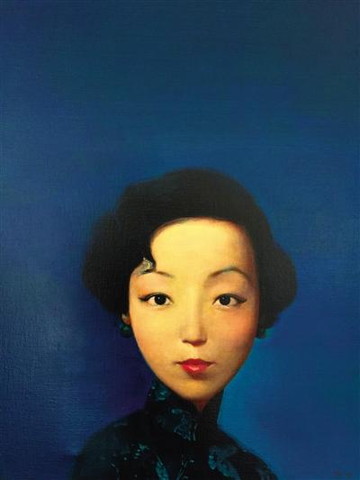 《张爱玲》 艺术家:刘野