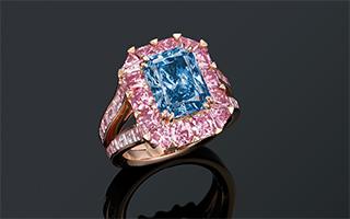 佳士得香港春拍一枚蓝钻戒指 估值最高8500万港元