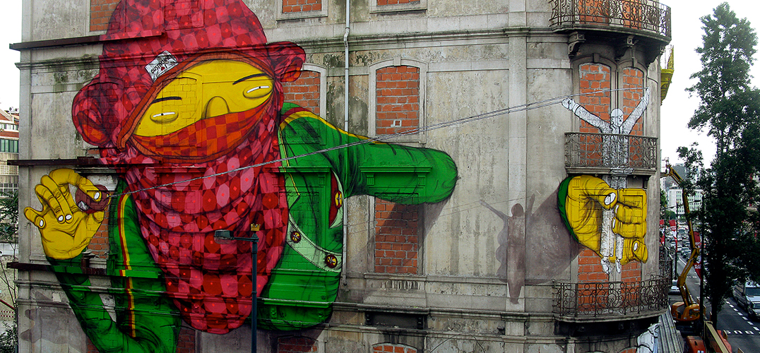 明亮的黄皮肤:奥斯·格默斯的街头涂鸦艺术