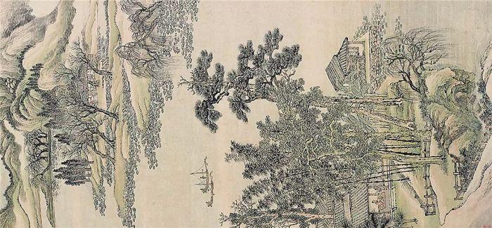 """华艺国际17春拍:""""画圣""""王翚《仿惠崇水村图》"""