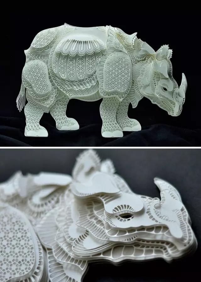 拯救这些动物 艺术家用精美的立体纸雕展现了它们的脆弱