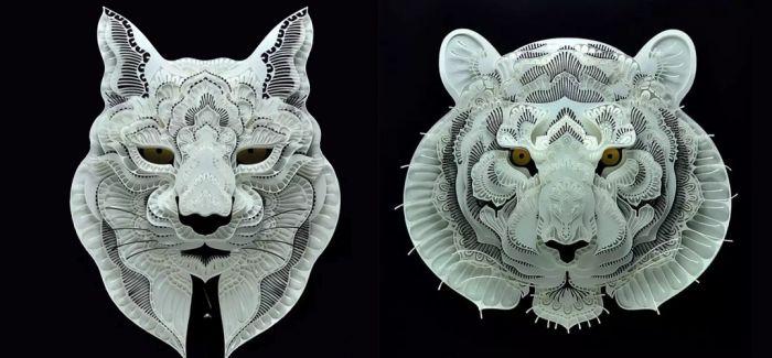 惊为天人的动物纸雕作品