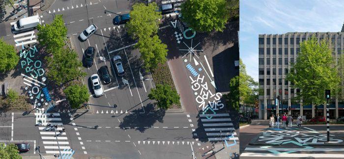 鹿特丹大街上的创意人行道