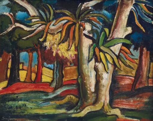 他受四方八面视觉刺激的包围,并致力将他们转化到艺术作品当中,《森林