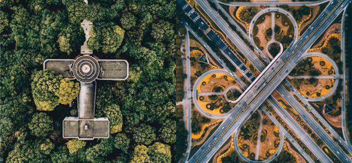 用上帝之眼俯瞰中国城市的魔幻时刻