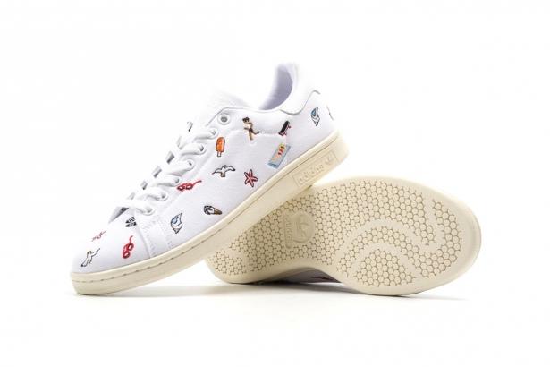 将白色的鞋身加上可爱
