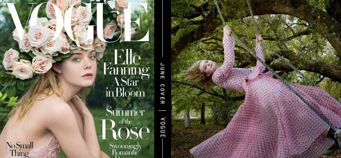 《Vogue》6月号封面展现青春与甜美