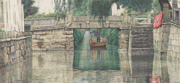 旅美华人笔下重彩的江南水乡 一种魂牵梦绕的乡情
