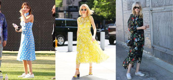 穿上印花裙 全世界都是我的绿叶