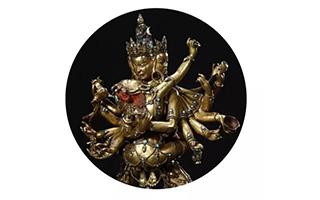 2017西泠春拍:震人心魄的16世纪铜鎏金上乐金刚像